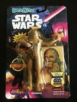 Star Wars 1993 Bend-ems Vintage Figure Justoys ChewbaccaTOPPS Trading Card