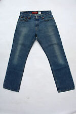 LEVIS 527 VINTAGE FADED BLUE DENIM JEANS 80s LOW RISE BOOTCUT RED TAB W30 UK12
