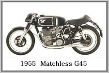 1955  MATCHLESS G45 - JUMBO FRIDGE MAGNET - VINTAGE CLASSIC MOTORCYCLE BIKE