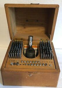 Vintage Louis Levin & Sons Staking Jewelry K&D Tool Set Watchmaker Bench Repair