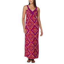 NEW DESIGN HISTORY M Medium Long Maxi Braided Strap Dress Grape Poppy Print