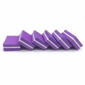 Mini Sponge Nail File 20pcs Sanding Buffer UV Gel Polish Manicure Tool Accessory