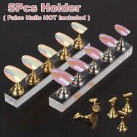 Crystal Salon Magnetic Manicure Nail Art Practice Display Stand False Tip Holder