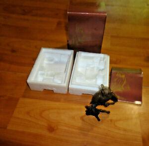 Avon American Wildlife Bronze Collection Great Horned Owl NIB 1985