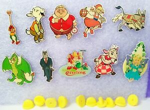 Lot of 10 Metal Badges Pins Efteling Holland Fairytales Sprookjesbos Pin