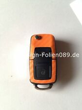 Carbon Orange Schlüssel Skoda Beetle T4 Passat Polo VW Golf4 5 6 IV Bora G 3B T5