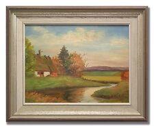 WILHELM WIDELL *1893-1969 / LANDSCAPE WITH FARM - Original Swedish Oil Painting