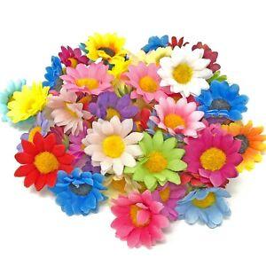 Multicolour 35mm Mini Daisy Decorative Synthetic Flowers (Faux Silk) - UK SELLER