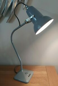 Anglepoise Original 1227 Mini Table Lamp in Very Good Condition. Dove Grey