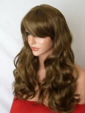 Light Brown Adult real Natural Wavy Costume Fashion Womens Ladies Full wig G17