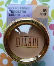 MILANI SECRET COVER CONCEALER CREAM - BEIGE # 08 MAXIMUM COVERAGE