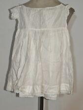 Victorian Civil War Era White Cotton Infant / Baby Dress