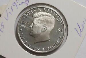 BRITISH VIRGIN ISLANDS 1 DOLLAR 2003 JFK B38 CG32