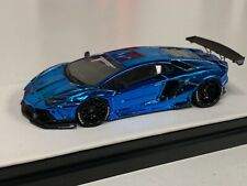 1/64 Lamborghini Aventador Liberty walk LB Performance Chrome Blue