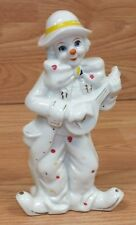 Vintage Sophia Ann Ceramic Painted Music Playing Collectible Clown Figurine