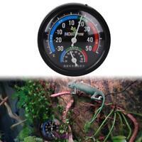 Hygrometer Humidity Meter Tester Pet Reptile Terrarium Thermometer Dial Gauge