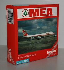 HERPA WINGS-MEA-Boeing 747-2b4b (Rose) - M/W Reg. - SCALE 1:500 - VERY RARE #502658