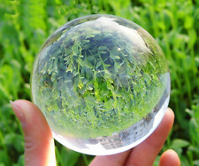 Asian Rare glass Quartz Clear Magic Crystal Healing Ball Sphere 50mm+Stand