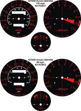 HONDA CBX1000 CBX 1000 Z/A SPEEDOMETER TACH REV COUNTER VOLT GAUGE DIAL OVERLAYS