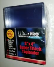 Ultra Pro SUPER THICK Top Loaders Sports Game TRADE Card Holders 120 pt Size NEW