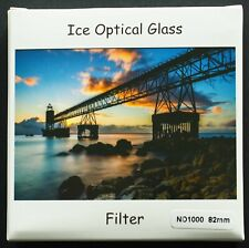 NEW ICE BRAND 82mm  ND 1000 NEUTRAL DENSITY FILTER. 10 STOP. OPTICAL GLASS.