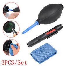 3 in 1 Lens Cleaning Cleaner Dust Pen Blower Kit For CANON NIKON Camera DSLR VCR
