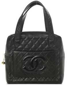 CHANEL QUILTED LEATHER CC TOTE BAG