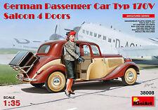 MiniArt 1/35 38008 German Passenger Car Typ 170V Saloon 4 Doors w/1 Figure