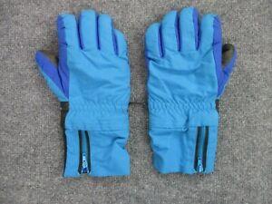 Vintage Patagonia Winter Gloves Ski Snowboarding Retro Blue Colorblock Size M