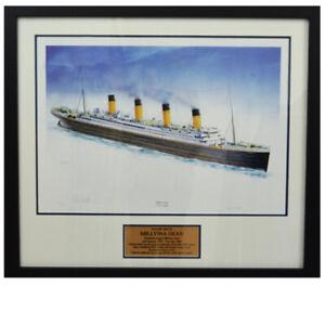 Millvina Dean Framed Signed Titanic Print