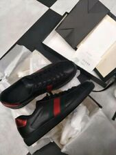 Men's Gucci Shoes Ace Embroidered Sneaker Size 8 = 9 U.S. Dust Bags & Gucci Box