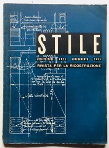 Lo Stile Rivista Architettura Gio Ponti n 41 maggio 1944 Ricostruzione A. Libera