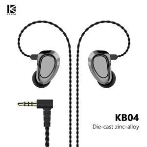 KBEAR KB04 1BA+1DD Hybrid Driver Detachable Cable 3.5mm 0.78mm In-Ear Earphones