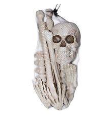 Life-Size Bag of 12 Bones Human Skeleton Body Parts Halloween Prop Haunted House