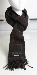 Barbour Checkered Scarf Grey And Red Check Used But Good Condition Barbour Tag