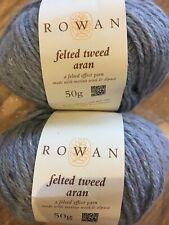 Rowan yarn, arran felted tweed, colour 'scree', 2 x 50g balls