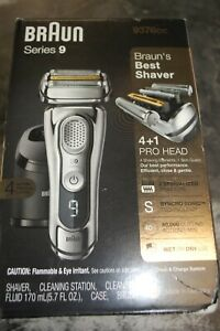 **NEW** BRAUN SERIES 9 ELECTRIC SHAVER 9376cc SEALED WET DRY NR!! NEW IN BOX