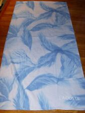 "Lacoste ZEPHYR Swim Beach Towel 100% Cotton New/Tag Sky 36"" x 72"" Authentic"