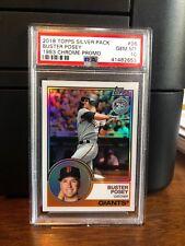 2018 Topps Silver Pack 1983 Chrome Buster Posey Baseball Card #96 PSA 10