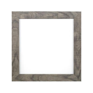 Shabby Chic Rustic Wood Grain Instagram Square Poster Picture Photo Frame  Grey