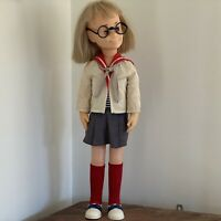 "Vintage 1961 CHARMIN CHATTY DOLL 24"" BLONDE With Glasses Mattel Toy"