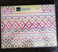 Denby Lifestyle Ikat Aztec Design Placemats Place Table Mats Set 4
