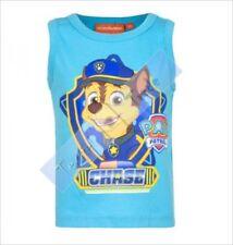 Vêtements bleus sans manches pour garçon de 2 à 16 ans en 100% coton