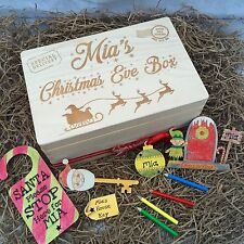Personalised Christmas Eve Box Solid Wood