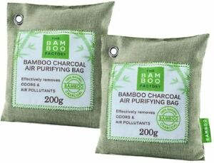 Activated Bamboo Charcoal Air Purifier Bags Natural Home Car Freshener 2 X 200g