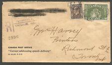 1934 Registered Cover 12c Medallion/Loyalists Split Ring Toronto Ont Local