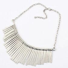 Fashion Metal Tassel Pendant Choker Collar Statement Bib Necklace Jewelry