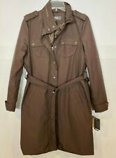 Kenneth Cole Reaction Brown Trench Coat NWT Sz.L