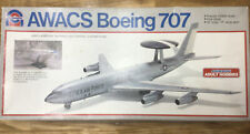 1/100 Scale 1982 Anmark Model Awacs Boeing 707 Kit #7522 U.S. Air Force Open Box