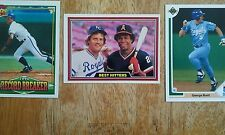 Set of (3) George Brett, Kansas CIty Royals Cards